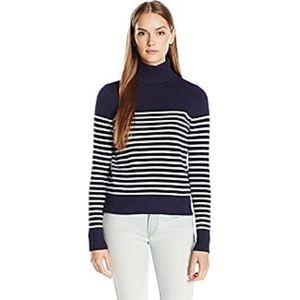 Noisy May Navy & White Striped Turtleneck Sweater